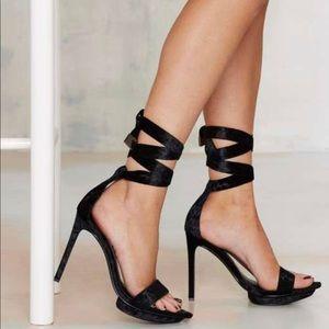 Nasty Gal | Velvet Rope Burn heel
